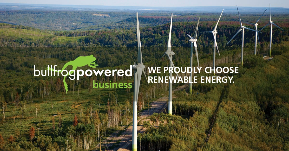 Coextro supports green electricity with Bullfrog Power®